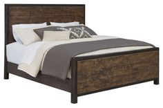 Wesling Queen Panel Bed by Ashley HomeStore, Rustic Brown