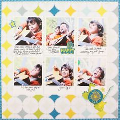 Like Father Like Son Be Young Boy Additions #Scrapbook Layout Project Idea from Creative Memories  http://www.creativememories.com
