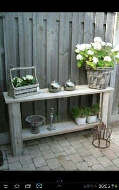 Steigerhout on pinterest scaffolding wood vans and met - Outdoor tuin decoratie ideeen ...