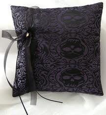 Skull Ring bearer pillow