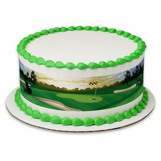Golf Cake >> Golf Birthday Peel and STick Edible Cake Topper Decoration for Cake Borders w. Sparkle Flakes and Favor Labels ** More details could be discovered at the photo url. (This is an affiliate link). Cake Borders, Cake Name, Pistachio Cake, Bowl Cake, Edible Cake Toppers, Cake Images, Baking Supplies, Savoury Cake, Fondant Cakes