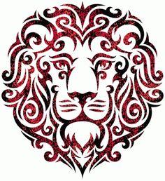 Lion tribal tattoo design by Von Glitschka. Tribal Lion Tattoo, Lion Tattoo Design, Lion Design, Leo Lion Tattoos, Tattoo Designs, Image Lion, Silhouette Cameo, Motifs Animal, Stencil Art