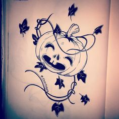 "Inktober // Day 19 ""This is Halloween this is Halloween"" #inktober #inktober2015 #sketch #sketchbook #halloween #pumpkin #thenightmarebeforechristmas"