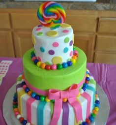 SO cute and easy Candyland Cake!! by lynne