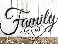 Family Metal Wall Art | Hearts | Family Sign | Metal Sign | Family Decor | Family Wall Decor | Wedding Gift | Wall Hanging by RefinedInspirations on Etsy https://www.etsy.com/listing/217556200/family-metal-wall-art-hearts-family-sign