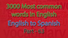 English to Spanish | 3101-3150 Most Common Words in English | Words Star...
