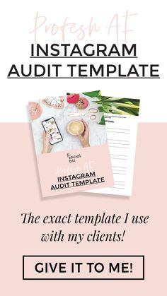 In order to develop a kick-ass strategy and aesthetic, it's important to evaluate where you are right now. An audit is the first thing I do when working with my clients. This is the EXACT template I use, and I'm sharing it FOR FREE!