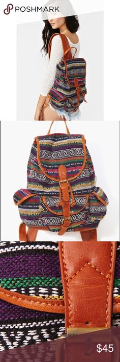 Nasty Gal Santa Fe Backpack Multicolored tribal print backpack **small tear on one pocket (will post pics tomorrow)** Bags Backpacks