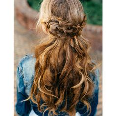 15 Fabulous Half Up Half Down Wedding Hairstyles ❤ liked on Polyvore featuring hair