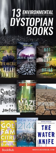 13 Creepy Dystopian Books to Read This Weekend 13 environmental dystopian books for teens and adults. Including a list of classic novels and recent fiction that would make great additions to your reading list! Ya Books, I Love Books, Good Books, Books To Read, Book Suggestions, Book Recommendations, Reading Lists, Book Lists, Reading Books