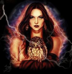 Beautiful Witch w/owl