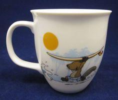 Nici Beaver Surfing Ocean Riding Chasing Waves Coffee Mug Cup Germany 12oz  #Nici #Ebay #UnderTheRoofTreasures