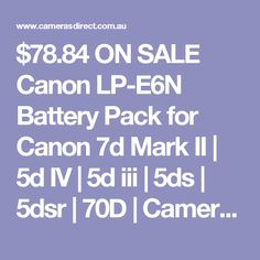 This Canon Battery is not a cheap battery. The Canon battery will however outperform a compatible The Canon will also hold their charge for longer over time. Canon Camera Battery, Canon Dslr Camera, 70d, Digital Camera, Cameras, Australia, Digital Camo, Camera, Digital Cameras