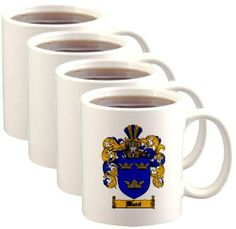 Ward Coat of Arms / Family Crest Mugs