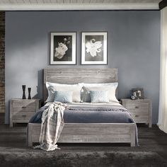 Grain Wood Panel Bed from Wayfair Give your bedroom a rustic chic look with the warmth of this solid wood bed.