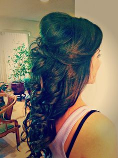 Wedding Half Updo by Ali, Long Island Makeup and Hair