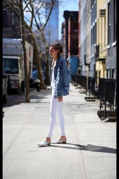 Spring style in the warm sun