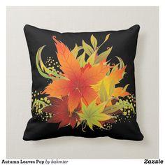 Autumn Leaves Pop Throw Pillow