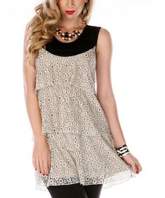 Cream Circle Tiered Tunic by Lily #zulily #zulilyfinds
