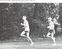 Oregon cross-country runners Ken Moore and Bill Mortenson 1965. From the 1966 Oregana (University of Oregon yearbook). www.CampusAttic.com
