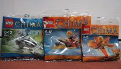 LEGO LEGENDS OF CHIMA Brand New Set of 3 Poly Bags | eBay
