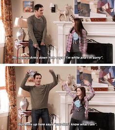 Dance moves by Phil Dunphy…no matter what I do it screams I'm white haha...