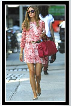 Buy it: Olivia Palermo's Paisley Print Dress, Ballerina Flats – New York City