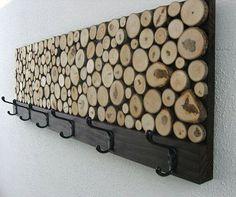Porte manteau chutes de bois