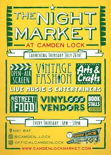 London Pop-ups: Camden Lock Night Market featuring Pop-up Vintage Fairs