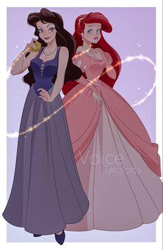 Disney Princess Ariel, Disney Princess Drawings, Disney Princesses, Vanessa Little Mermaid, The Little Mermaid, Arte Disney, Disney Fan Art, Disney Dream, Disney Love