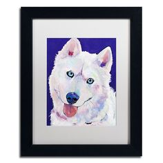 "Trademark Fine Art ""Whitey"" Framed Canvas Wall Art by Pat Saunders, Multicolor"