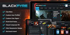 Blackfyre - Create Your Own Gaming Community V1.4.2 - http://nulledtemplates.net/templates/wordpress-theme/blackfyre-v1-4-2.html  Blackfyre V1.4.2 gives you the power to create massive gaming communities. Users can create clans and challenge each others, keeping track of the matches, share content and much more!    Version V 1.4.2   Author Skywarrior   Distributor / Market evanto, themeforest   High Resolution yes   Widget Ready yes   Compatible Browsers IE8, IE9,