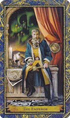 Sửng sốt Lá The Emperor - Wizards Tarot bài tarot
