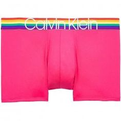 Calvin Klein Microfiber Low Rise Trunk, Chrissie Pink With Pride Colours Waistband Calvin KleinMicrofiber Low Rise Trunk, Chrissie Pink With Pride Colours Waistband Limited Edition Low Rise Trunk Contour Pouch For Support And Comfort Features Signature CK waistband with pride colours 91% Nylon / 9% Elastane Pride Colors, Calvin Klein Men, Gay Pride, Lounge Wear, Gym Shorts Womens, Underwear, Stripes, Colours, Trunks