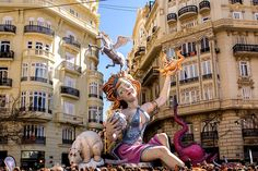 A papier-mâché model displayed during Las Fallas festival, the annual celebration in praise of St. Joseph, in Valencia, Spain - Jorgefontestad/iStockPhoto/GettyImages
