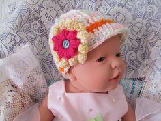 Newborn Girl Newsboy Baby Girl Hat Infant Girl Chunky Crochet Newborn Girl Hat Newborn Photo Prop newborn girls hat new baby gift crochet