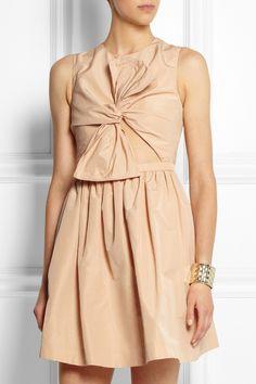 Carven Cutout shantung-faille dress