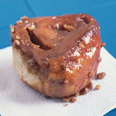 Cinna-Myron Caramel Rolls Recipe - Saveur.com ~ This recipe is named after Myron Sikora who baked 320 of these rolls the day before Iowa's annual bike ride (RAGBRAI). He sold them to the cyclists as they rode by his sister's house in Emmetsburg. They were so delicious he sold them all.