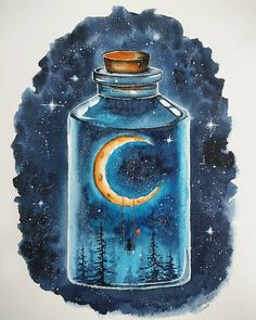Universe in a Jar 🌌⚗️which ones is your favorite Cool Art Drawings, Pencil Art Drawings, Art Drawings Sketches, Galaxy Painting, Galaxy Art, Art Sketchbook, Cute Art, Painting & Drawing, Amazing Art