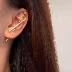 Ear Jewelry, Cute Jewelry, Beaded Jewelry, Jewelery, Unique Jewelry, Accesorios Casual, Jewelry Design, Fashion Jewelry, Stud Earrings