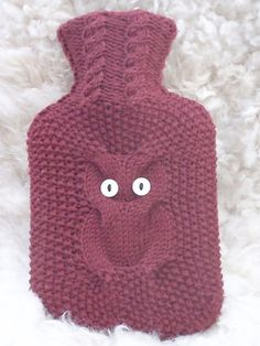 Ravelry: Nighty Night Owl pattern by Mary Starkey (bottle warmer crochet) Owl Patterns, Knitting Patterns, Crochet Patterns, Knitting Projects, Crochet Projects, Knit Crochet, Crochet Hats, Water Bottle Covers, Yarn Bee