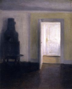 Vilhelm Hammershøi - Interior, An Old Stove, Albertines Lyst, Lyngby