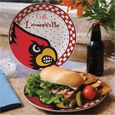 Louisville Cardinals Ceramic Plate Game Day Round Plate