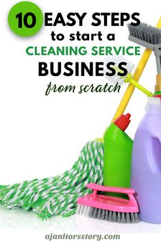 Learn how to START and GROW a house and commercial office cleaning service business. Start a residential maid service company | Start a janitorial cleaning service company. FREE PRINTABLE TEMPLATES included | FREE EMAIL SUPPORT included. INSTANT ACCESS - Start your cleaning company TODAY! #ajanitorsstory #startacleaningbusiness #housecleaningcompany #officecleaningcompany Building Cleaning Services, Office Cleaning Services, Professional Cleaning Services, Cleaning Companies, Cleaning Checklist, Cleaning Hacks, Laundry Business, Cleaning Business, Janitorial Cleaning Services