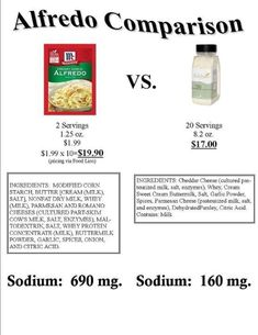Alfredo Comparison. Why Wildtree? Here's why!  www.mywildtree.com/Athomecookinglessons