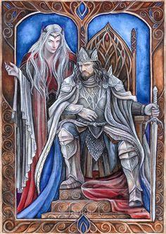 Sauron and Ar-Pharazon by JankaLateckova.deviantart.com on @DeviantArt