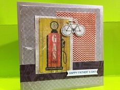 Father's Day Card using Kaisercraft Garage Days collection - Greeting Grub Cards