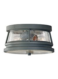 OL8113STC,2-Light Outdoor Flush Mount,Storm Cloud