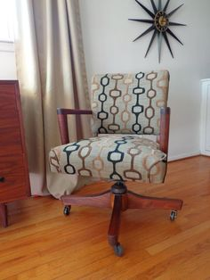 Retro Walnut Office Chair by popcelona on Etsy, $299.00