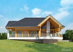 Projekt domu LK&1116 Cottage Style House Plans, Cabin House Plans, Rural House, House In The Woods, House Design Drawing, Duplex House Design, Modern House Design, My Home Design, Home Design Plans